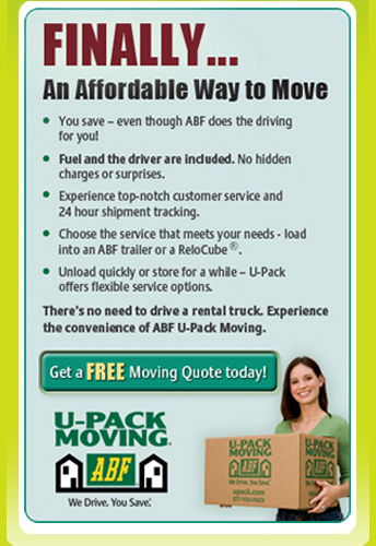 ABF U-Pack Moving: We Drive. You Save.